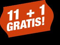 11+1 GRATIS!
