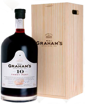 grahams 10y tawny 4 5 liter in kist 10. Black Bedroom Furniture Sets. Home Design Ideas