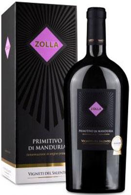 Zolla Primitivo di Manduria MAGNUM in Doos